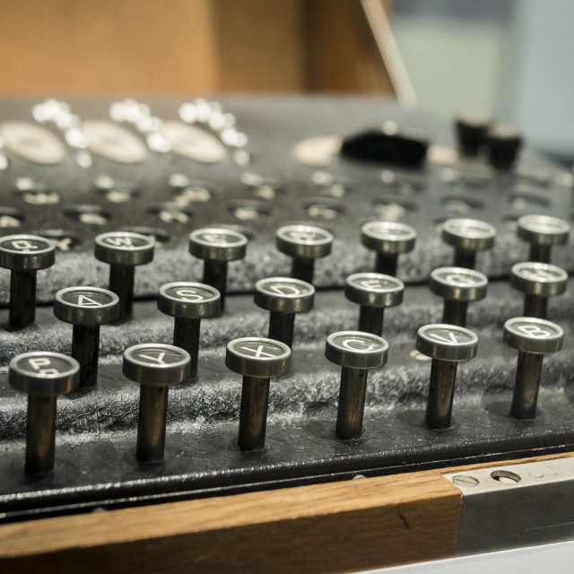 """Enigma Machine, Bletchley Park"" stock image"