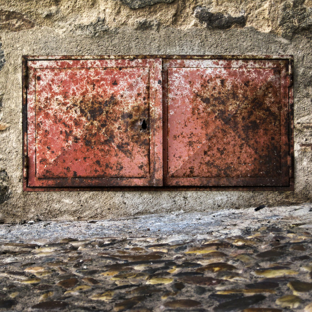 """""""Metal trapdoor"""" stock image"""
