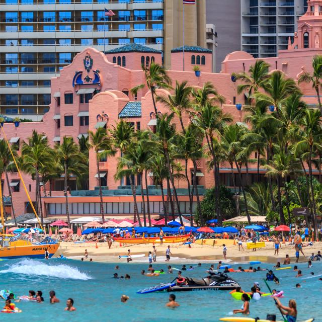 """The Royal Hawaiian Hotel"" stock image"