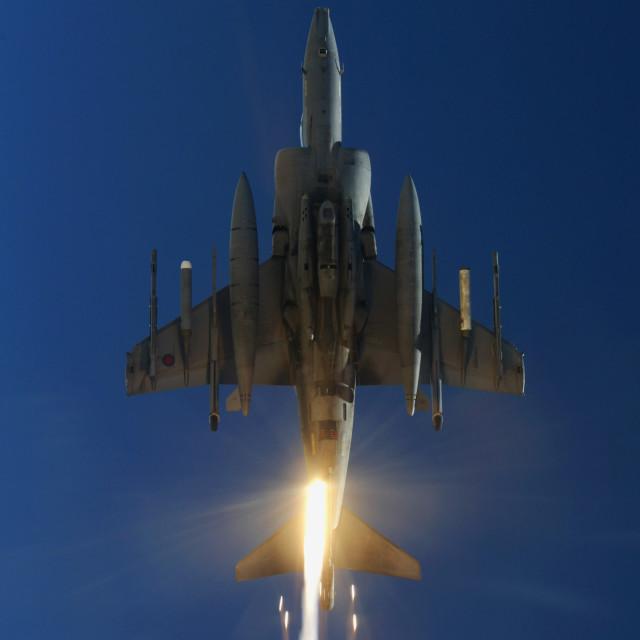 """Harrier Flares"" stock image"