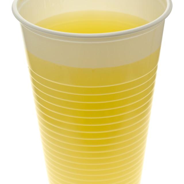 """Plastic Cup of Orange Juice"" stock image"