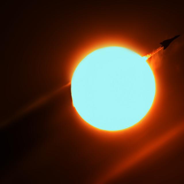 """Vulcan Sunburst"" stock image"