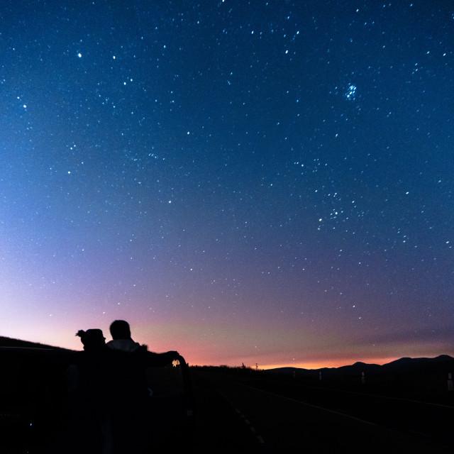 """Stargazing couple"" stock image"
