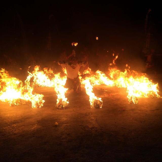 """Fire dance"" stock image"