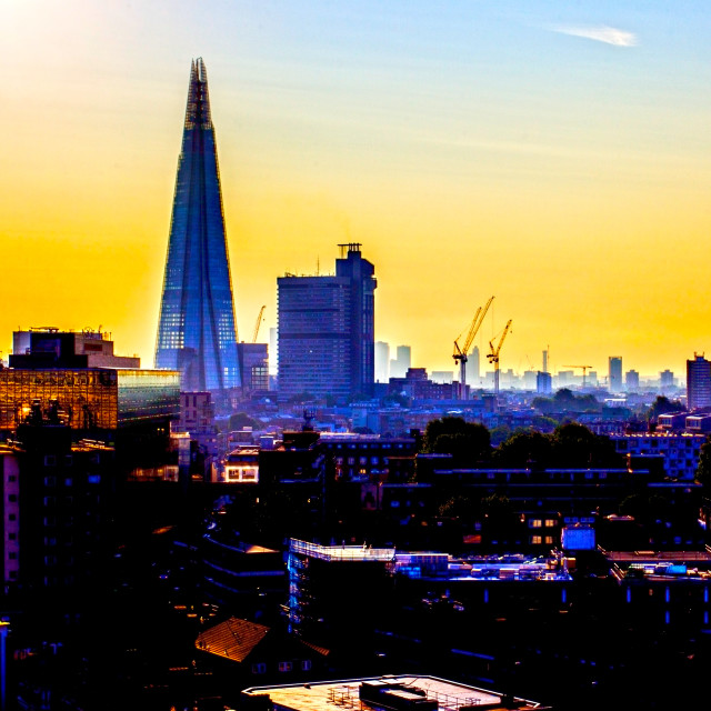"""London Skyline at Dawn"" stock image"