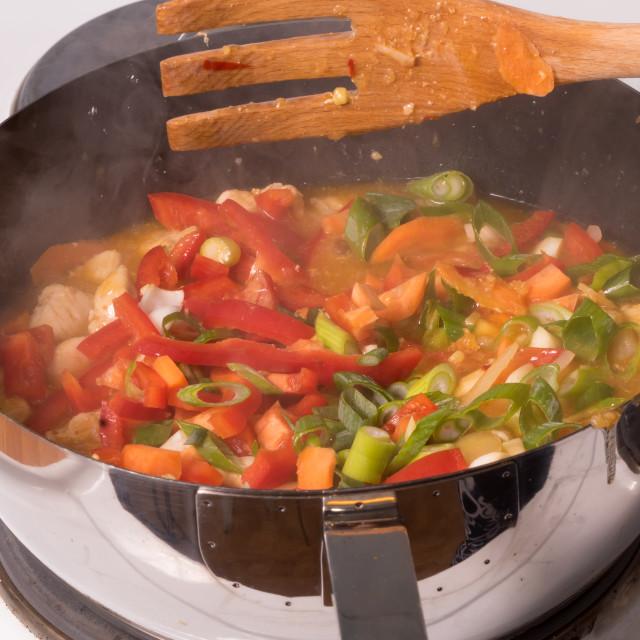 """""""Chicken stew"""" stock image"""