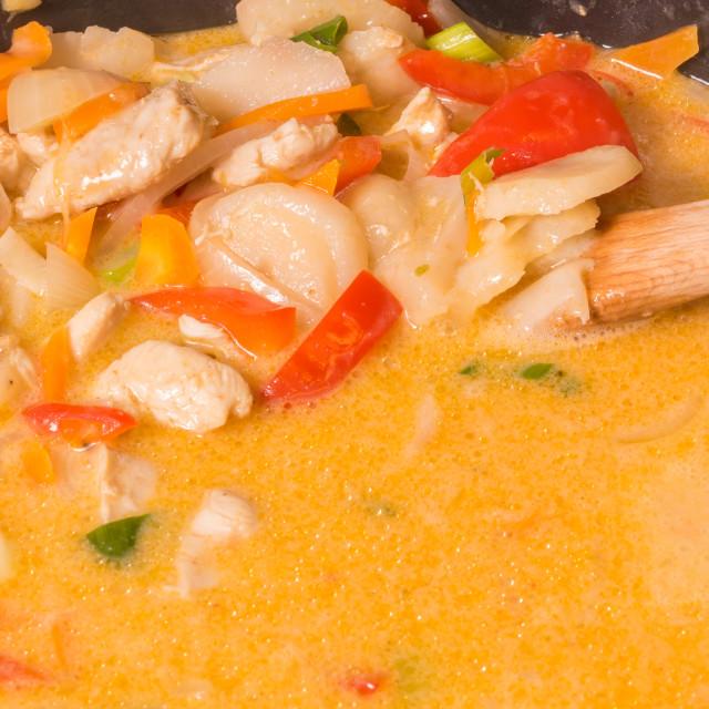 """""""Chicken stew 3"""" stock image"""