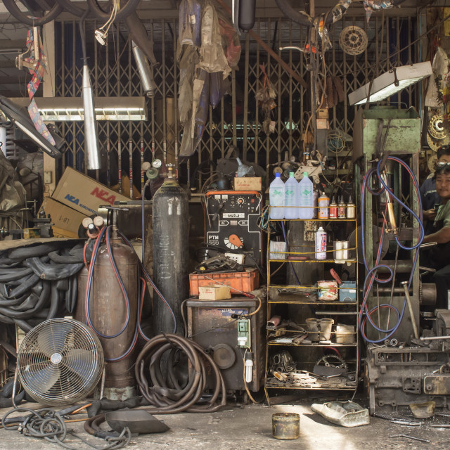 """WORKSHOP"" stock image"