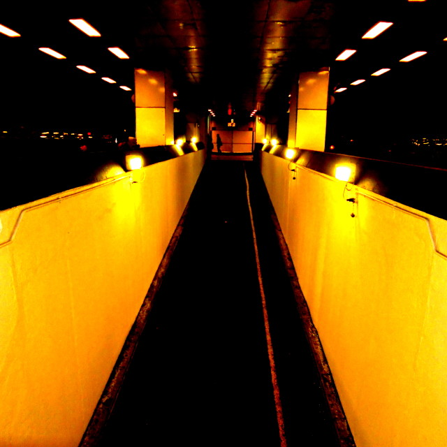 """Walkway at train station in Birmingham, UK"" stock image"