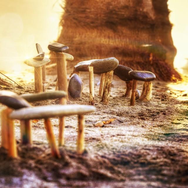 """Mini Stonehenge"" stock image"