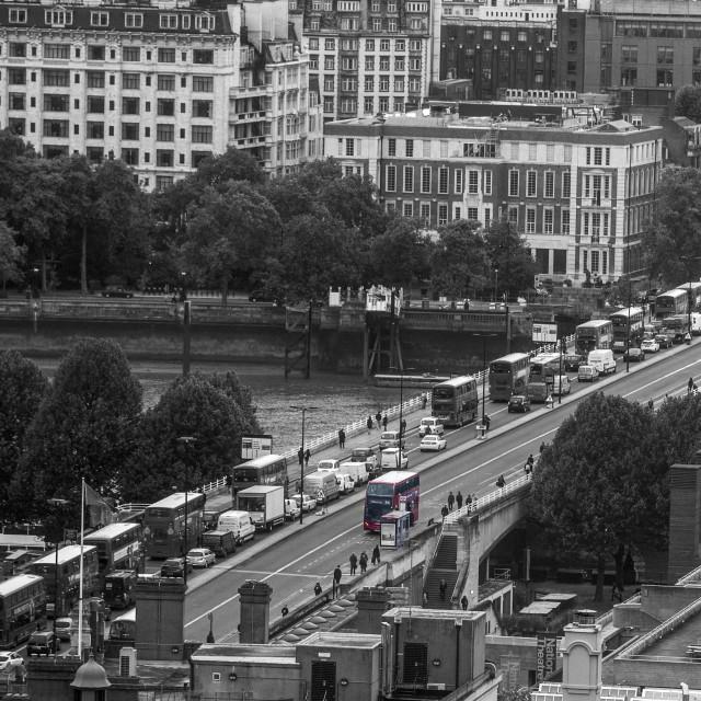 """Waterloo Bridge, London"" stock image"