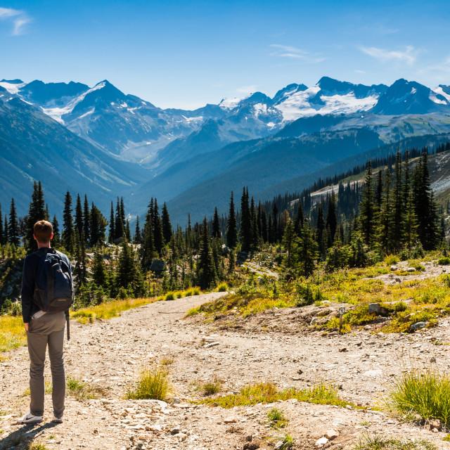 """""""Mountains around Whistler"""" stock image"""