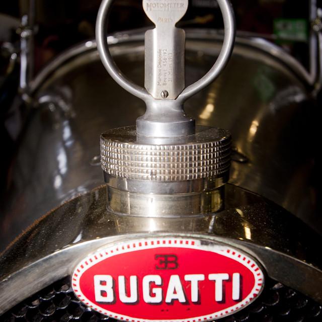 """Bugatti radiator badge"" stock image"