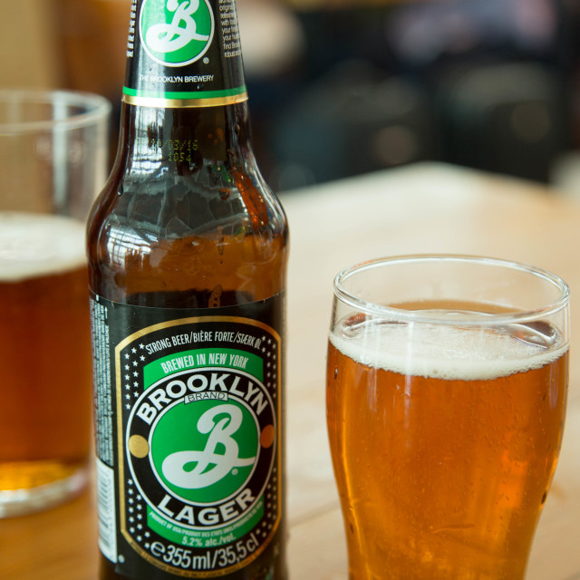"""""""Brooklyn Lager"""" stock image"""