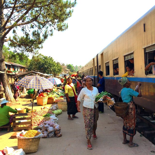 """Train station market, Myanmar"" stock image"