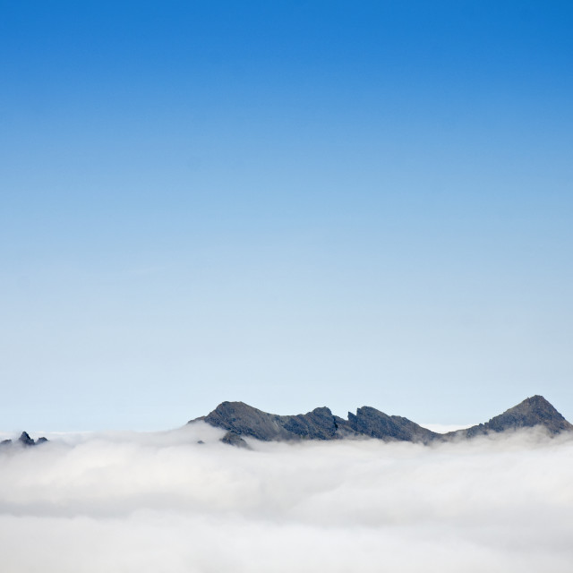 """Cuillin abouve the cloud"" stock image"