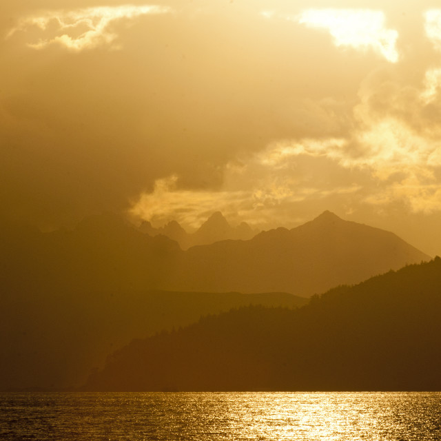 """Cuillin Sunset"" stock image"