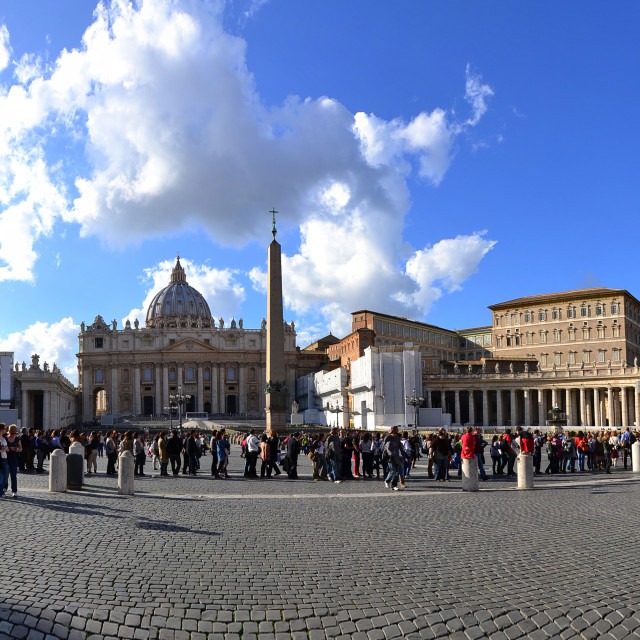 """""""Panorama of Vatican St. Peter's Square"""" stock image"""
