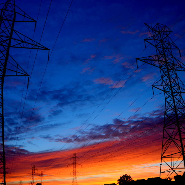 """Power Sunset"" stock image"