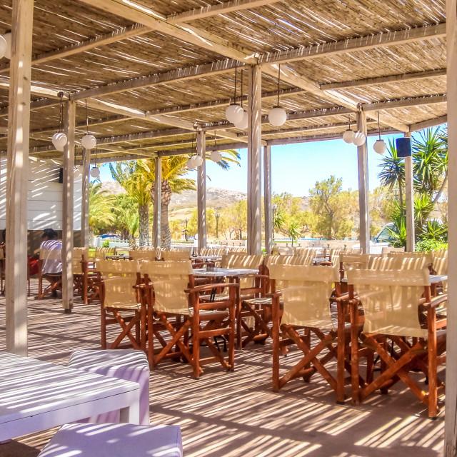 """Sunny restaurant"" stock image"