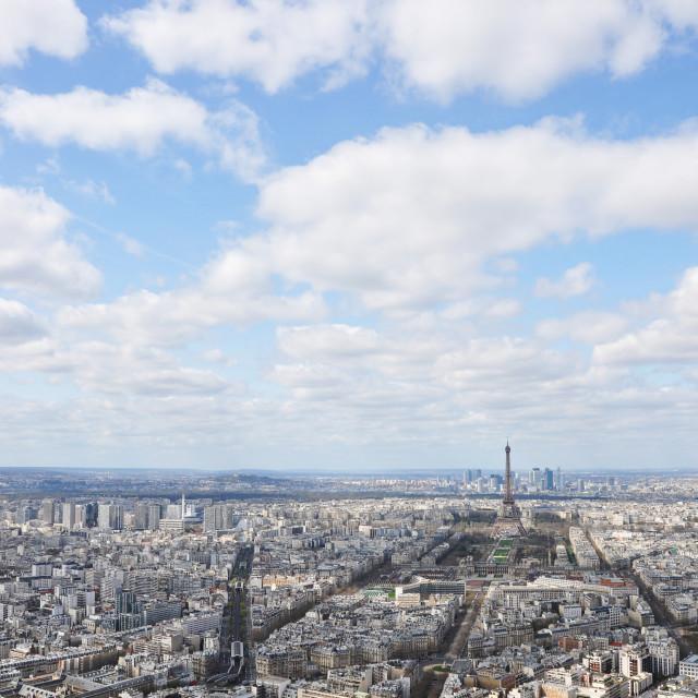 """""""Panorama of Paris"""" stock image"""