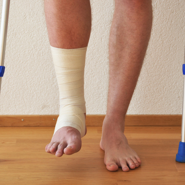 """Bandage on the leg"" stock image"
