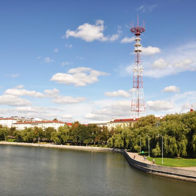 """Telecommunication tower in Minsk, Belarus"" stock image"