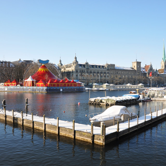 """Vinter view of Zurich"" stock image"