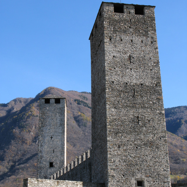 """Bellinzona castle"" stock image"