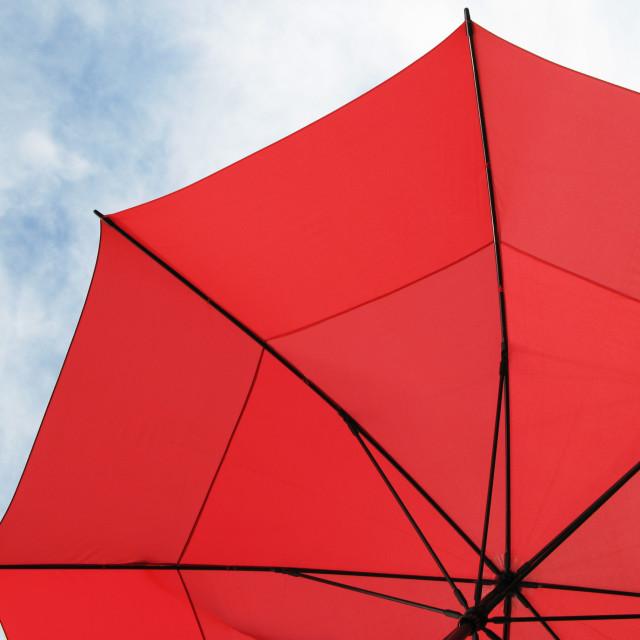 """Red umbrella"" stock image"