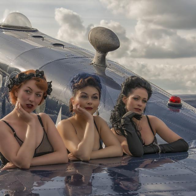 """Vintage Glamour Girls"" stock image"