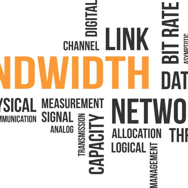 """word cloud - bandwidth"" stock image"