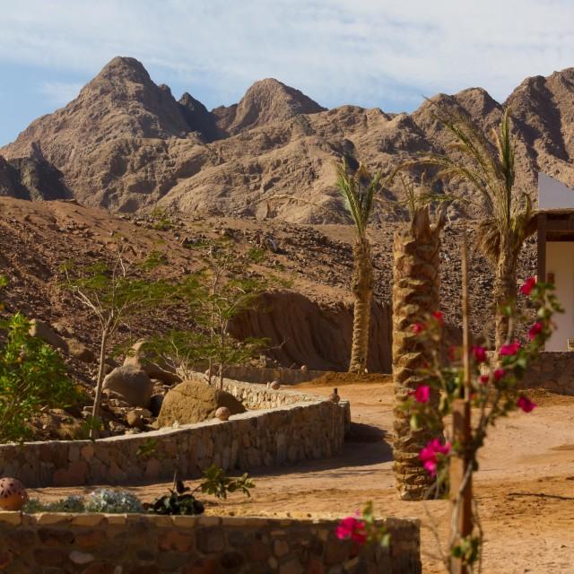 """Sinai mountains near Dahab"" stock image"
