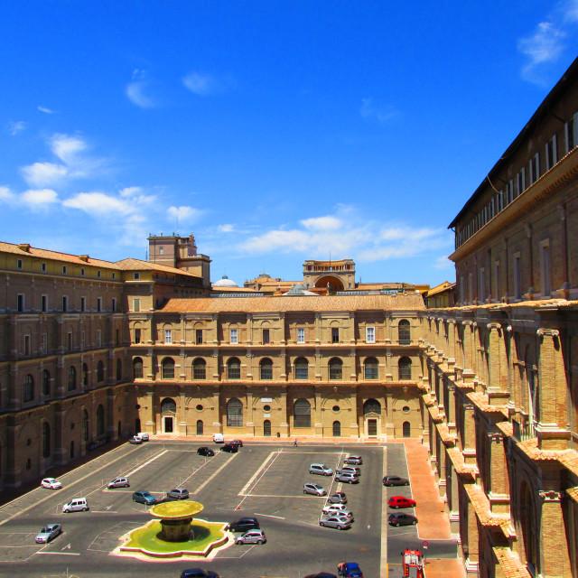 """Inside Vatican city"" stock image"
