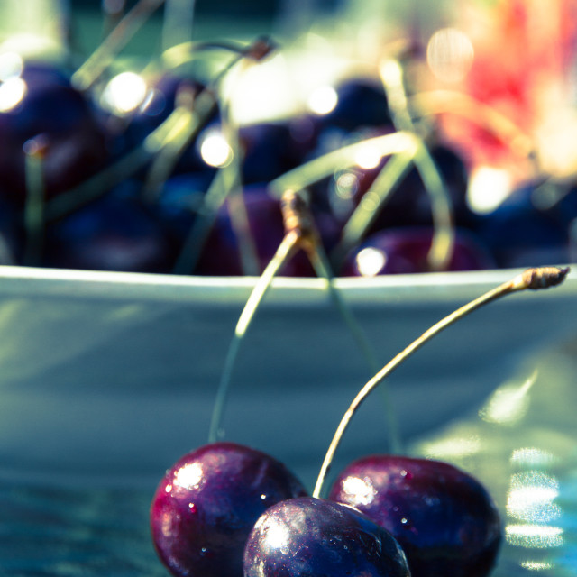 """Dark Red Cherries"" stock image"