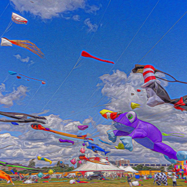 """""""Lets go fly a Kite"""" stock image"""