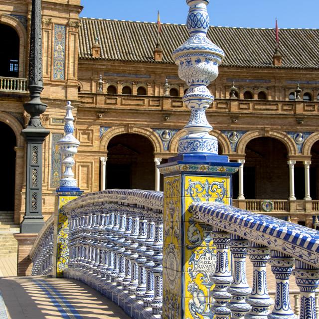"""Andalusian tiled bridge"" stock image"