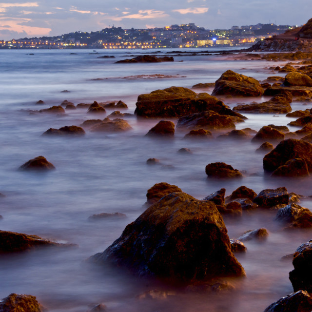 """mediterranean coastal view"" stock image"