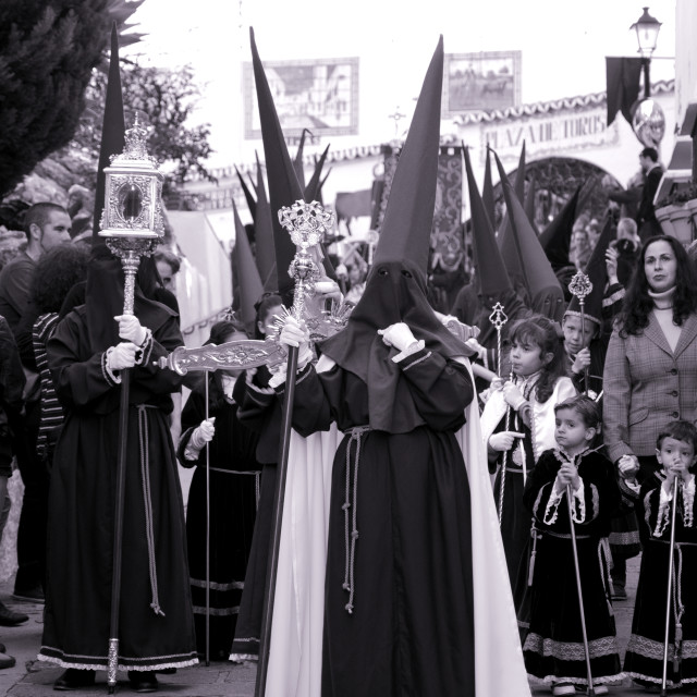 """""""Procession during Holy week"""" stock image"""