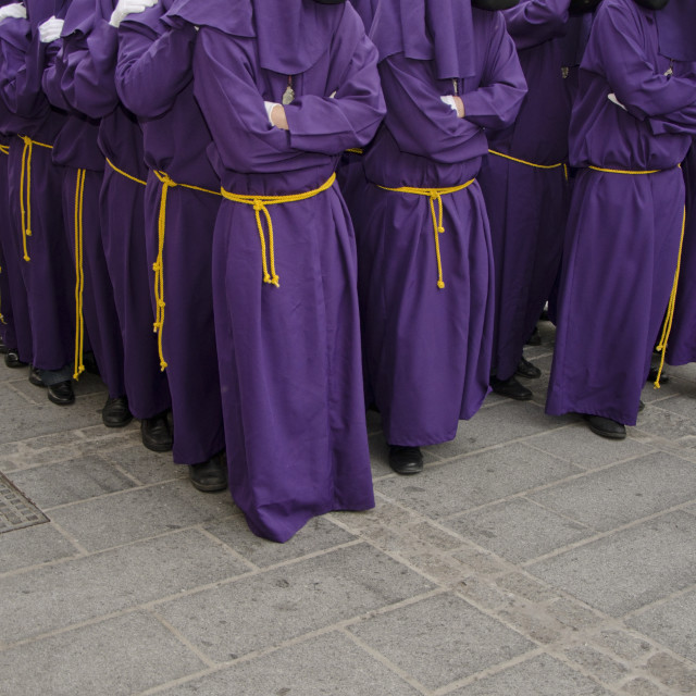 """Carriers of a throne during Holy week,"" stock image"