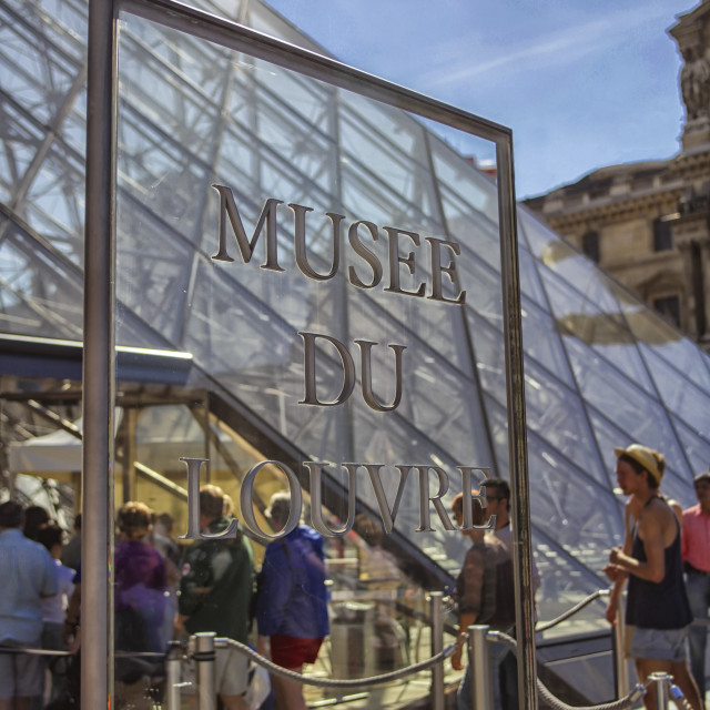 """Musee du Louvre sign"" stock image"