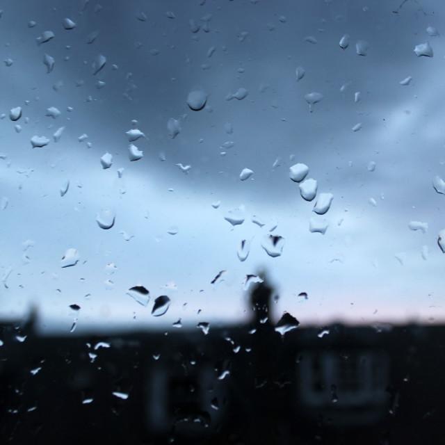 """Rain over sunrise"" stock image"