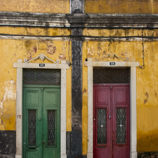 """Colourfull doors"" stock image"