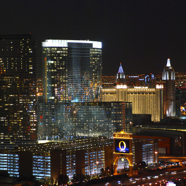 """Skyline Las Vegas at night"" stock image"