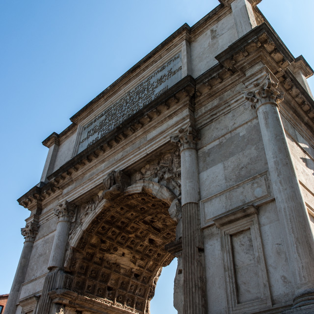 """""""The Roman forums, Arch of Titus"""" stock image"""