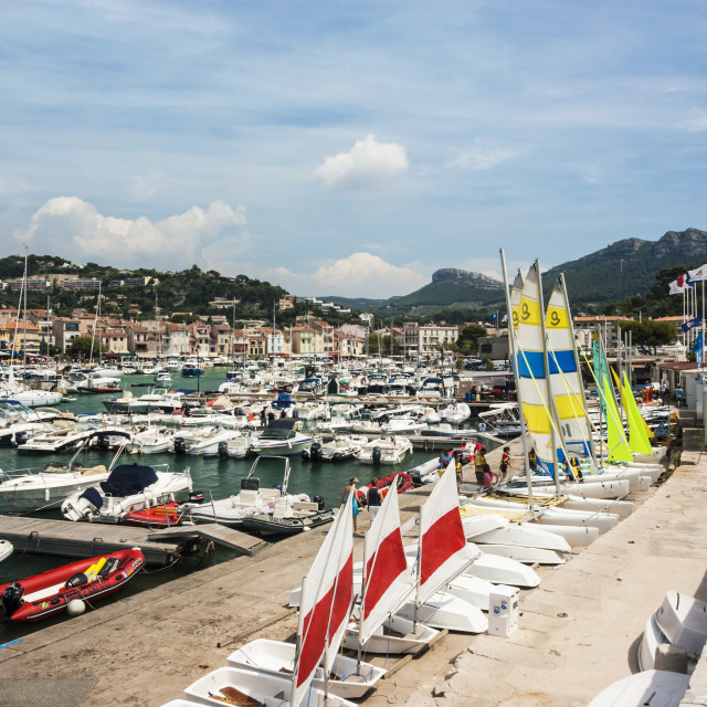 """""""Cassis Harbour, Cassis France 13th August 2012."""" stock image"""