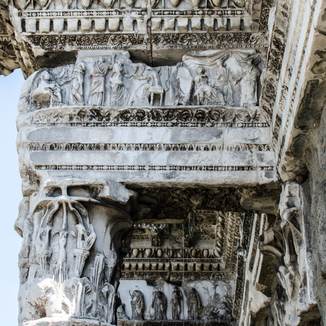 """Roman forum, detail"" stock image"