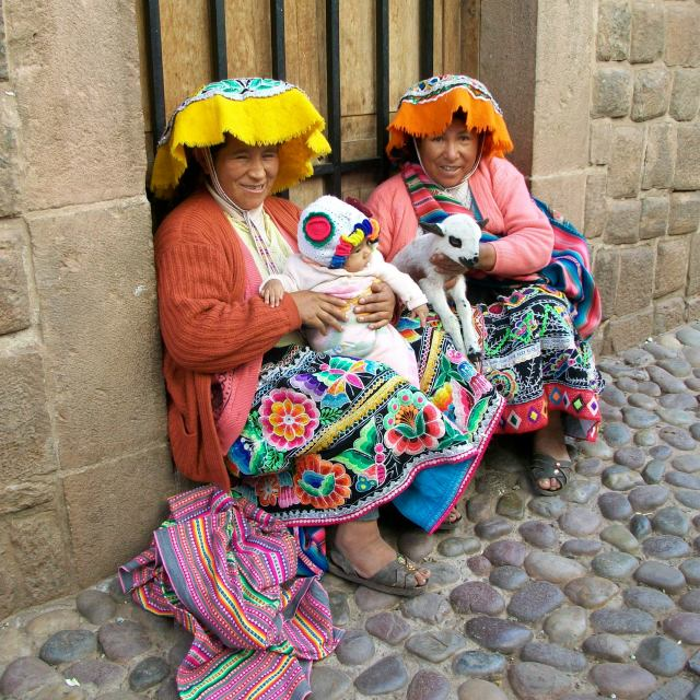 """""""Wandering the streets of Cuzco"""" stock image"""