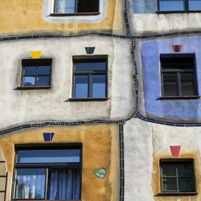 """Hundertwasser Windows"" stock image"