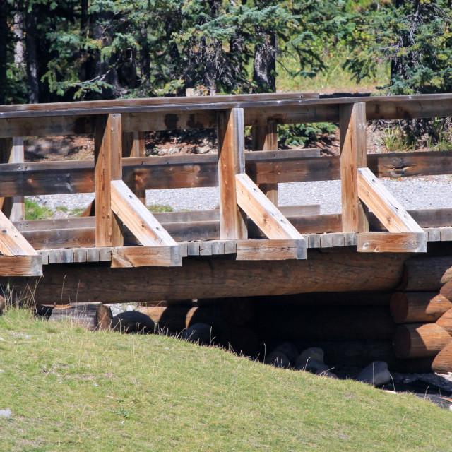 """Bridge over Forget Me Not Creek"" stock image"